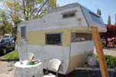 Photo of original Aloha cabover Compact vintage trailer