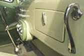 Highly polished and stylish grab handle on Decoliner Truck dashboard
