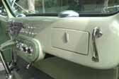 Picture of beautiful glove box door in Decoliner Motorhome cab interior