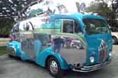 Awesome streamlined Decoliner truck looks like Flash Gordon's Motorhome