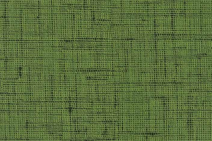 Retro formica laminate sample chip; Green Lacquered Linen pattern #9489