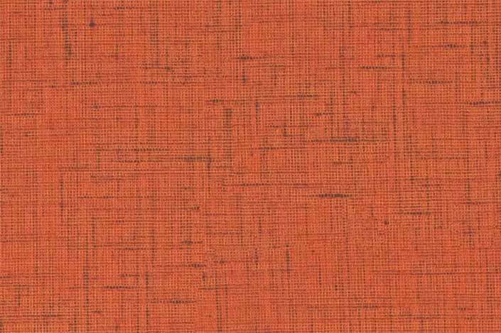 Retro formica laminate sample chip; Orange Lacquered Linen pattern #9490