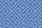 Formica Laminate retro pattern sample chip for pattern Blue Greek Key #9492