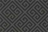 Formica Plastic Laminate retro pattern sample chip for pattern Charcoal Greek Key #9494