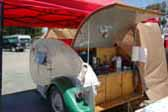 Kenskill KustomKamper Teardrop Trailer Wood Kitchen Cabinets