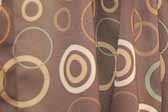 This image is a sample of a great looking retro fabric pattern with a 60's circles graphics design, for your vintage trailer
