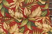 This photo shows a swatch of retro fabric with classic hawaiian tropical design like a gauguin painting, for your vintage trailer