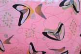 This image is a sample of a great looking retro fabric pattern with a Googie boomerangs design, for your vintage trailer