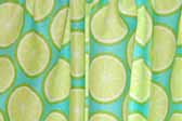 This image is a sample of a great looking retro fabric pattern with a 1960's colorful lemon slices design, for your vintage trailer