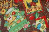 This image is a sample of a great looking retro fabric pattern with fun country designs, for your vintage trailer