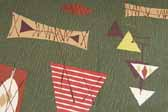 This image is a sample of a great looking retro fabric pattern with mid century geometric designs, for your vintage trailer