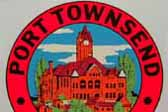 Rare Vintage Travel Decal depicts the historic courthouse in Port Townsend in the state of Washington