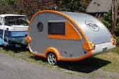 Modern Teardrop Trailers are now made by T@B Mfg. Co.