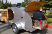 Very Clean Aluminum Custom Made Teardrop Trailer