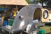 Sturdy Teardrop Trailer with aluminum skin