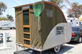 Classic Tent Trailer With Screendoor and Tall Tent Area