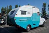 The Twister truck based trailer camper is a great looking 1950's style oval trailer installed on a truck frame