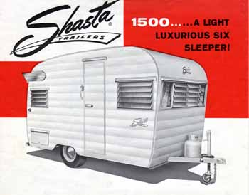 Original dimensions, features and specifications for the Shasta 1500 Vintage Trailer