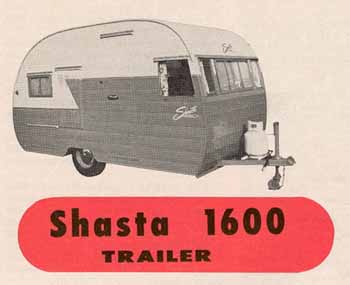 Original dimensions, features and specifications for the Shasta 1600 Vintage Trailer