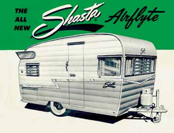 Original dimensions, features and specifications for the Shasta Airflyte Vintage Trailer