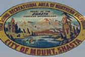 Beautiful Vintage Souvenir Travel Decal from the Mount Shasta Recreational Area in Northern California