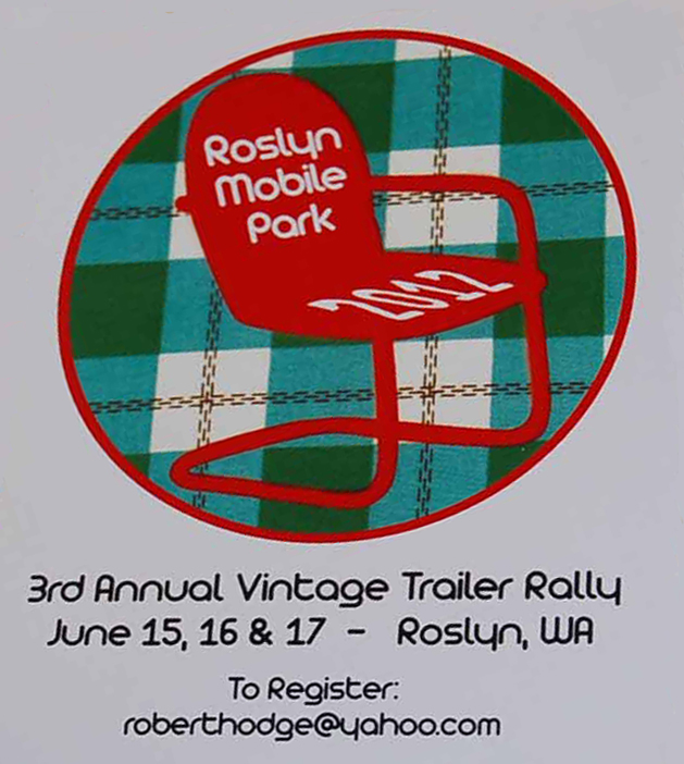 Vintage Trailer Decal from the 2012 Roslyn Vintage Trailer Rally held the Roslyn Mobile Park in Washington State