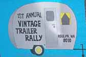 Vintage Trailer Event Decal commemorates the 1st Annual Vintage Trailer Rally in 2010 in Roslyn, Washington
