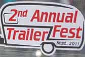 Vintage Trailer Event Decal from the 2nd Annual Trailerfest Trailer Rally held in 2011