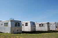 Vintage Trailers in Vintage Trailer Storage Yards and vintage trailer junkyards