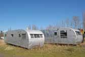 Nice pair of original aluminum Spartanette travel trailers available as restoration projects