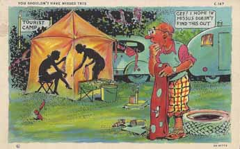 Vintage Trailer naughty humor post card