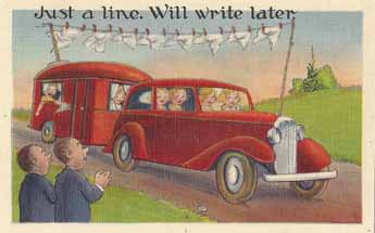 Vintage Travel Trailer humor post card