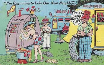 Collectable vintage trailer bawdy humor postcard