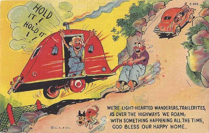 vintage trailer humor postcard curt teich amp co c 188