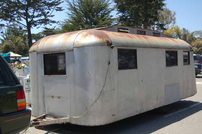 Wonderful Vintage Westcraft Trolley Top trailer in a vintage trailer Storage Yard would be a great restoration project