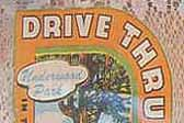 Rare Vintage Travel Decal from the Drive Thru Tree in the Redwood Grove in California