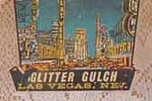 Las Vegas, Nevada Vintage Travel Decal with nickname: Glitter Gulch