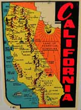 Old Travel Decals from Yosemite, Big Bear, California, Oregon, Nevada, Michigan and many more