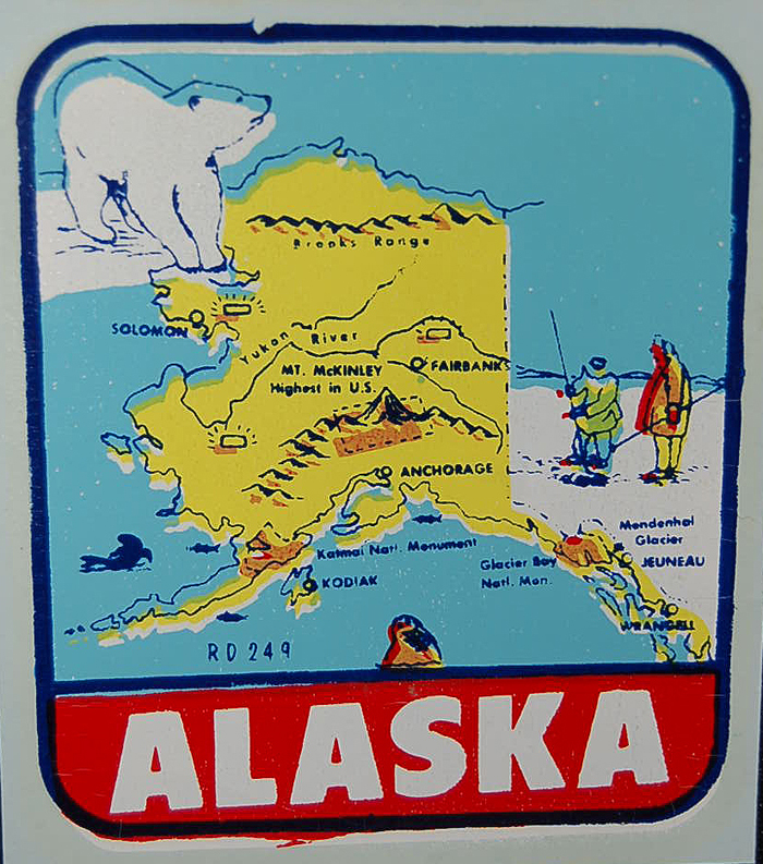 Vintage Travel Decals from OldTrailer – Alaska Travel Map