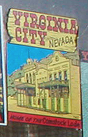 Original Vintage Travel Decal from Virginia City in the State of Nevada