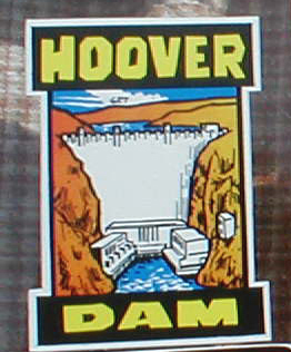 Bold Vintage Travel Decal from Hoover Dam