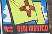 Vintage Travel Decal from the State of New Mexico features their State Flag