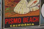 Very Rare Vintage Travel Decal from Pismo Beach, California
