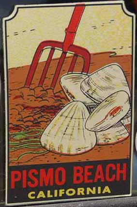 Vintage Travel Decal From Pismo Beach, California