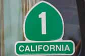 Vintage Travel Decal Commemorate Famous Coast Highway 1 in California