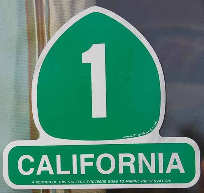Travel Decal Commemorates California Coast Highway 1
