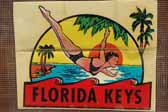 Iconic Vintage Travel Decals from the Florida Keys area in Florida