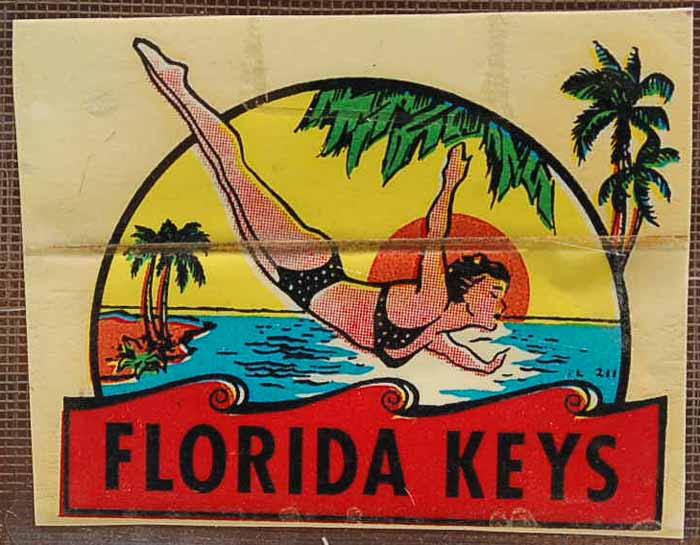Vintage Travel Decal From the Florida Keys