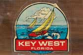 Vintage Travel Decals features Vacation Destinition Key West in Florida