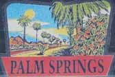Rare Vintage Travel Decals from Palm Springs in the Desert in California
